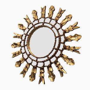 Vintage Mosaik Spiegel mit Rahmen in Sonnen Optik