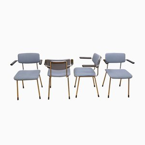Model 1231 Dining Chairs by A.R. Cordemeyer for Gispen, 1960s, Set of 4