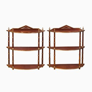 Antique Baltic Hanging Shelves, Set of 2