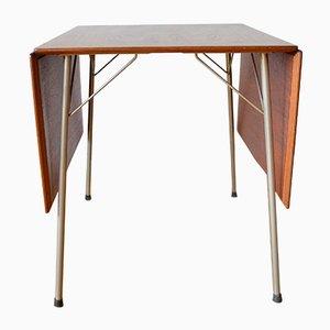 Dänischer Modell 3601 Teakholz Klapptisch von Arne Jacobsen für Fritz Hansen, 1950er