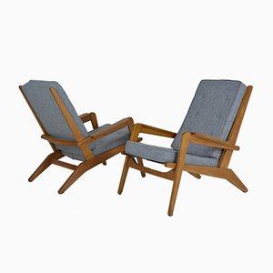Model FS 105 Armchairs by Pierre Guariche for Airborne, 1950s, Set of 2