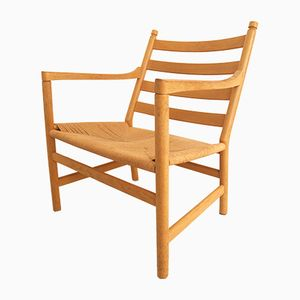 Mid-Century Danish CH 44 Oak Chair by Hans Wegner
