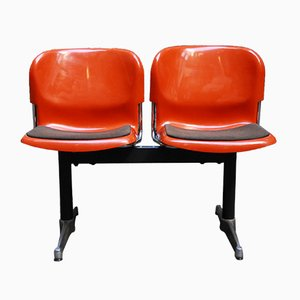 German Swing Double Chairs by Gerd Lange for Drabert, 1960s
