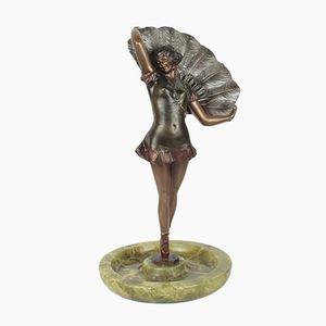 Sculpture Art Déco en Bronze par Bruno Zach, 1930