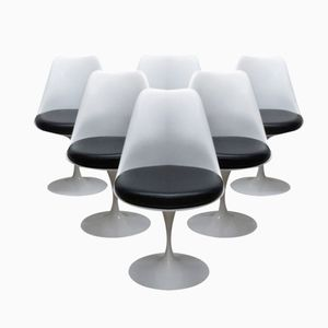 Swivel Tulip Chairs by Eero Saarinen for Knoll International, 1980s, Set of 6