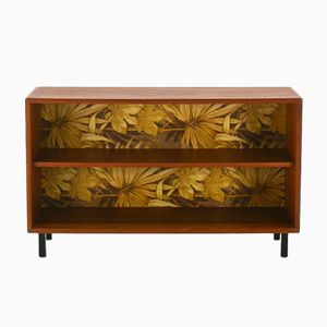 Small Vintage Bookcase with Wallpaper from WK Möbel, 1960s