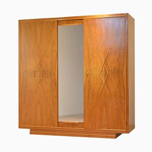 Belgian Art Deco Walnut Wadrobe from De Coene Frères, 1940s
