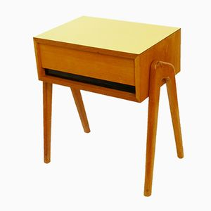 Oak & Formica Night Stand, 1950s