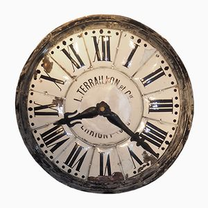 French Industrial Church Dial Clock from Terraillon