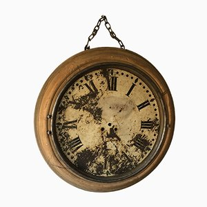 Vintage Industrial French Station Clock