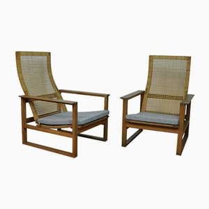 Danish Easy Chairs by Borge Mogensen for Fredericia, 1956, Set of 2