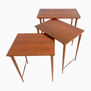 Mid-Century Teak Nesting Tables by Grete Jalk