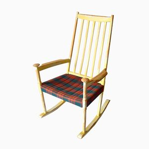 Rocking chair by poul volther for frem rojle 1960s en for Chaise a bascule scandinave