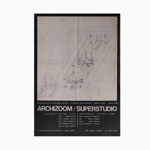 Italienisches Superstudio/Archizoom Plakat von Poltronova, 1969