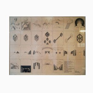 "Italienisches Plakat ""Un viaggio nelle regioni della ragione"" von Superstudio, 1970"