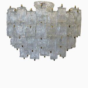 Großer Murano Glas Kronleuchter von Venini, 1960er