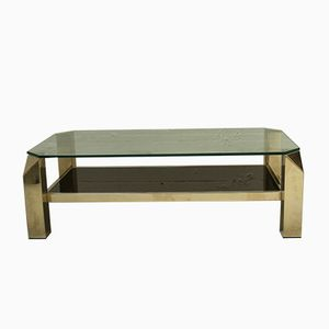 Vintage Gilded Coffee Table from Belgochrom