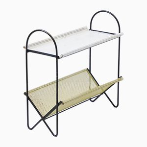 Perforated Metal Magazine Rack, 1950s