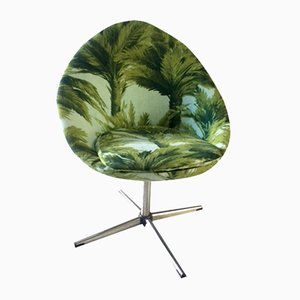 Vintage Palm Tapestry Armchair, 1960