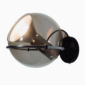 Vintage Glaskugel Wandlampe von Frank Ligtelijn für Raak