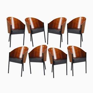 Costes Stühle mit Gebogenen Rückenlehnen von Philippe Starck für Driade, 1984, 8er Set
