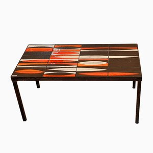 French Navette Coffee Table by Roger Capron, 1950s