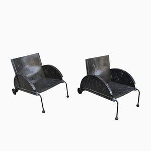 Vintage 4814 Armlehnstühle von Anna Castelli Ferrieri für Kartell, 2er Set