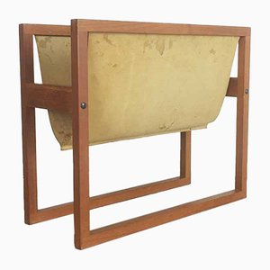Teak Magazine Rack by Kai Kristiansen for Sika Mobler, 1960s