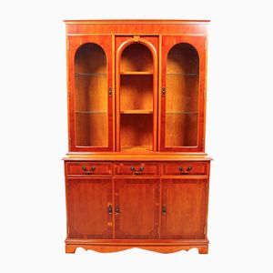 Antique Yew Display Bookcase