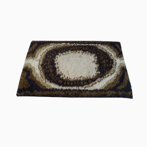 Abstract Brown Danish Rug by Ege Rya, 1960s