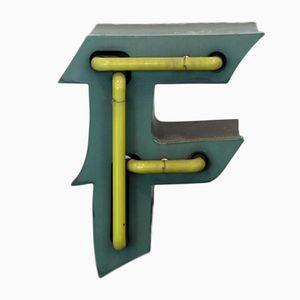Dutch Green & Yellow Light Letter F