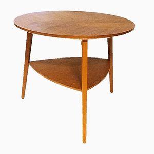 Table Basse Ronde en Teck, Danemark, 1960s