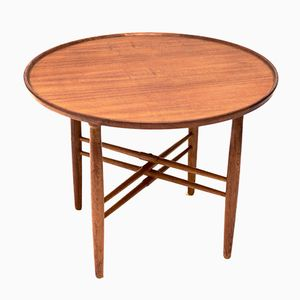 Danish Round Coffee Table, 1950s
