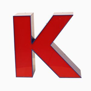 Dutch Red & Blue Light Letter K