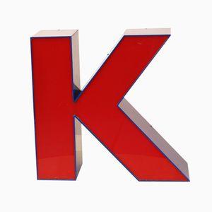 Lettre K Vintage Bleue & Rouge