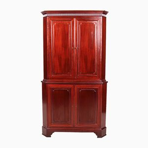 Vintage French Mahogany Corner Cabinet