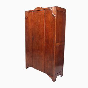 Vintage Art Deco Oak Wardrobe, 1930s