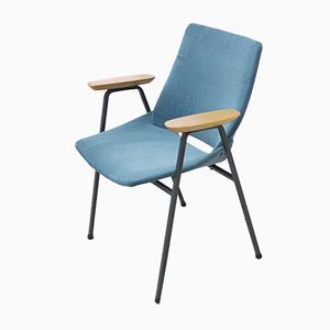 Petroleum Blue Shell Dining Chair by Niko Kralj