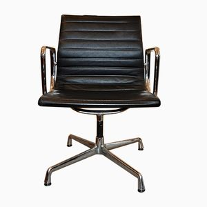 EA 108 Leather Swivel Chair by Charles & Ray Eames for Vitra, 1980s