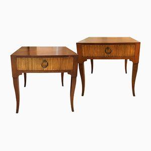 Vintage End Tables from Baker, Set of 2