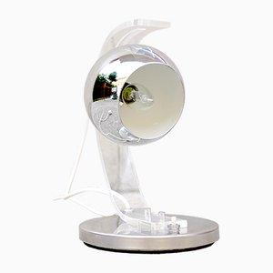 Hemisphärische Chrom Tischlampe von Harvey Guzzini, 1970er