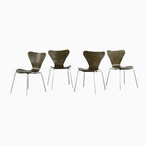 3107 Stühle von Arne Jacoben für Fritz Hansen, 1972, 4er Set