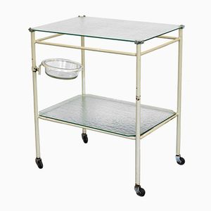 Mid-Century Medical Instrument Table on Wheels