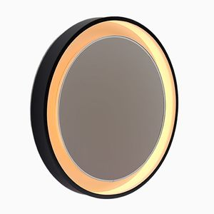 Backlit Round Mirror by Jacques Charpentier