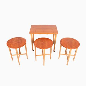 Vintage Folding Nesting Tables