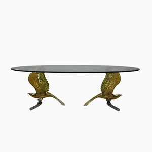 French Brass Eagle Dining Table from Alain Chervet, 1970s