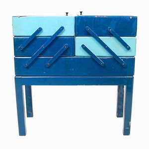 Blue Danish Sewing Box, 1960s