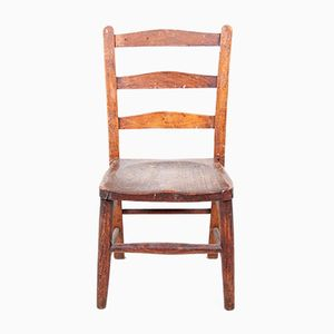 Antique Victorian Solid Oak Childs Chair