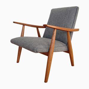 Mid-Century Model GE260 Oak Armchair by Hans J. Wegner for Getama, 1960s