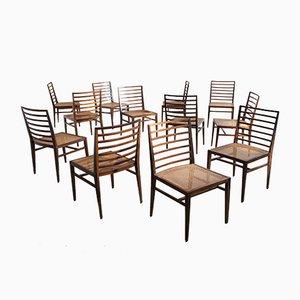 Chaises de Salon Jacaranda par Joaquim Tenreiro, Italie, 1950s, Set de 12